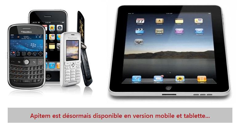 Apitem disponible sur tablettes et mobiles !